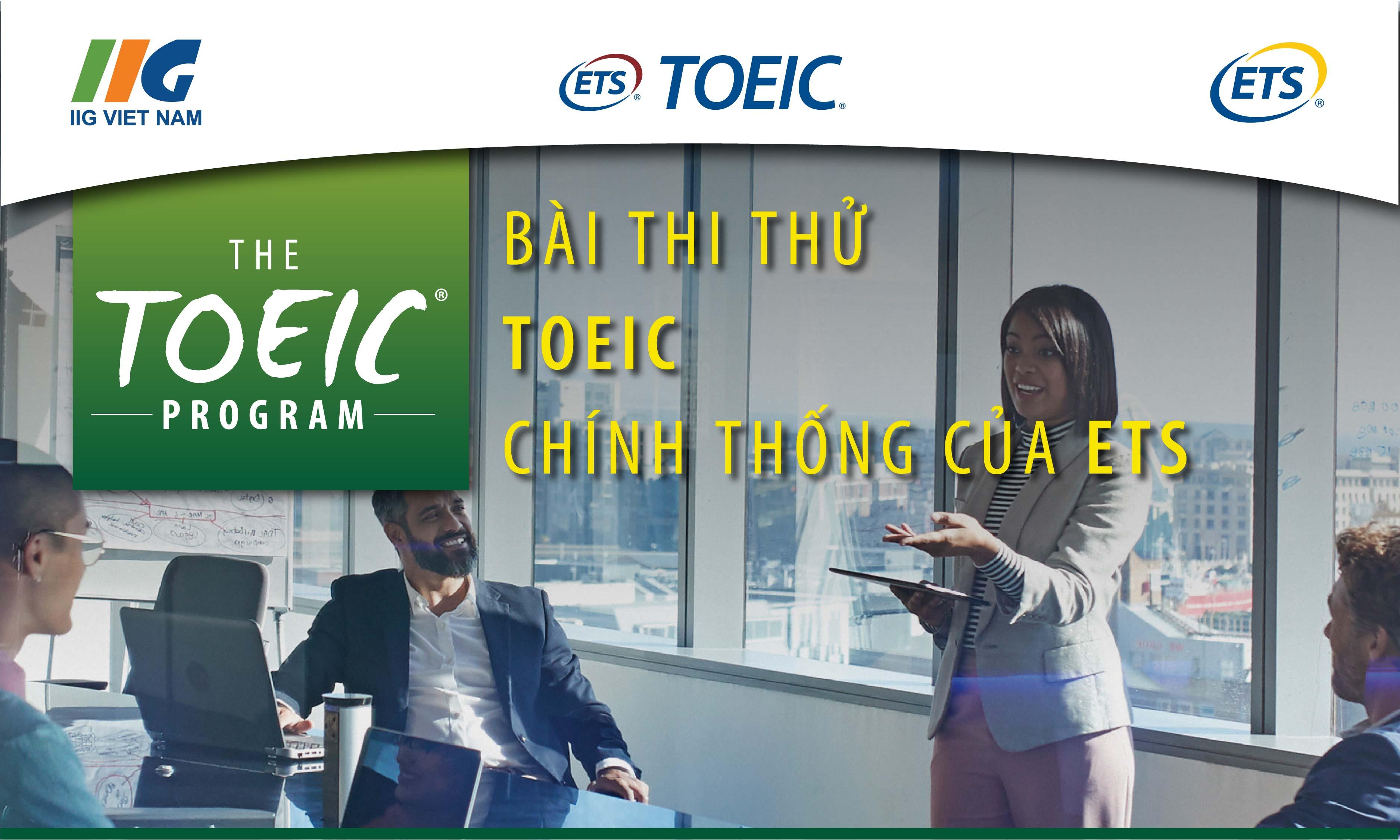 Thi thử Online TOEIC- Bài thi chính thống từ ETS (Combo 6 đề)